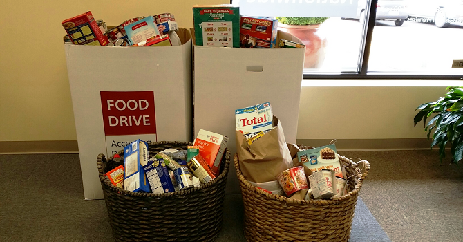 Image of Quaint Oak Bank Food Drive Items