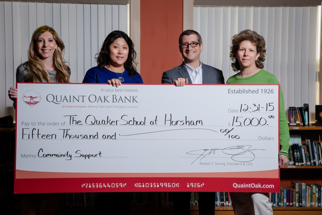 Image of Quaint Oak Bank $15,000 Donation