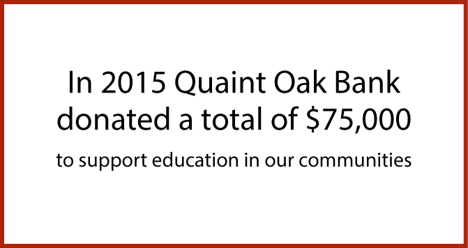 Image for Quaint Oak Bank 2015 Scholarship Donations