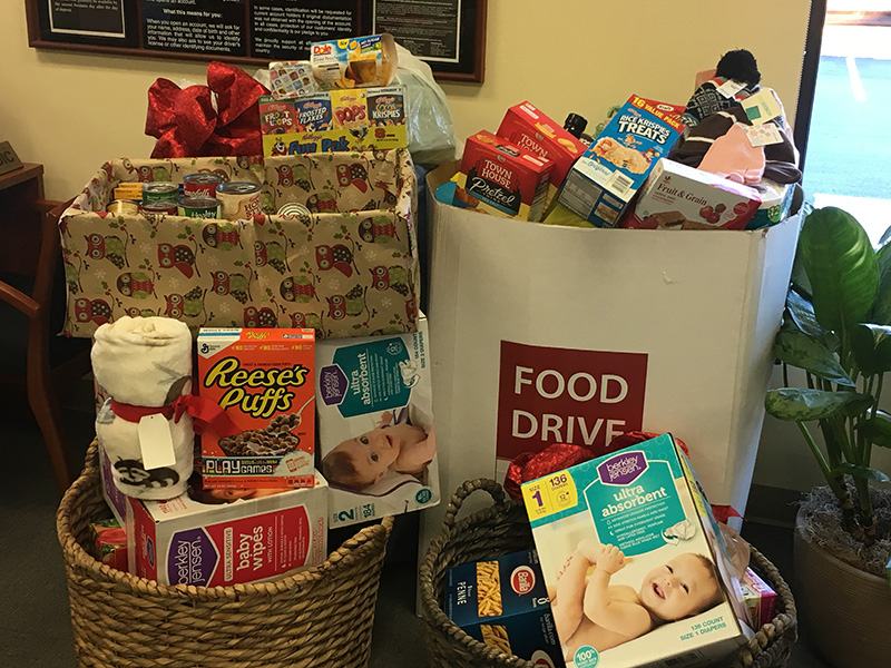 Image of Quaint Oak Bank Food and Toy Drive