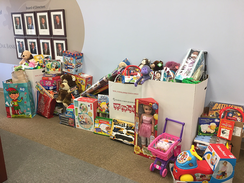 Image of Quaint Oak Bank Food and Toy Drive 2016