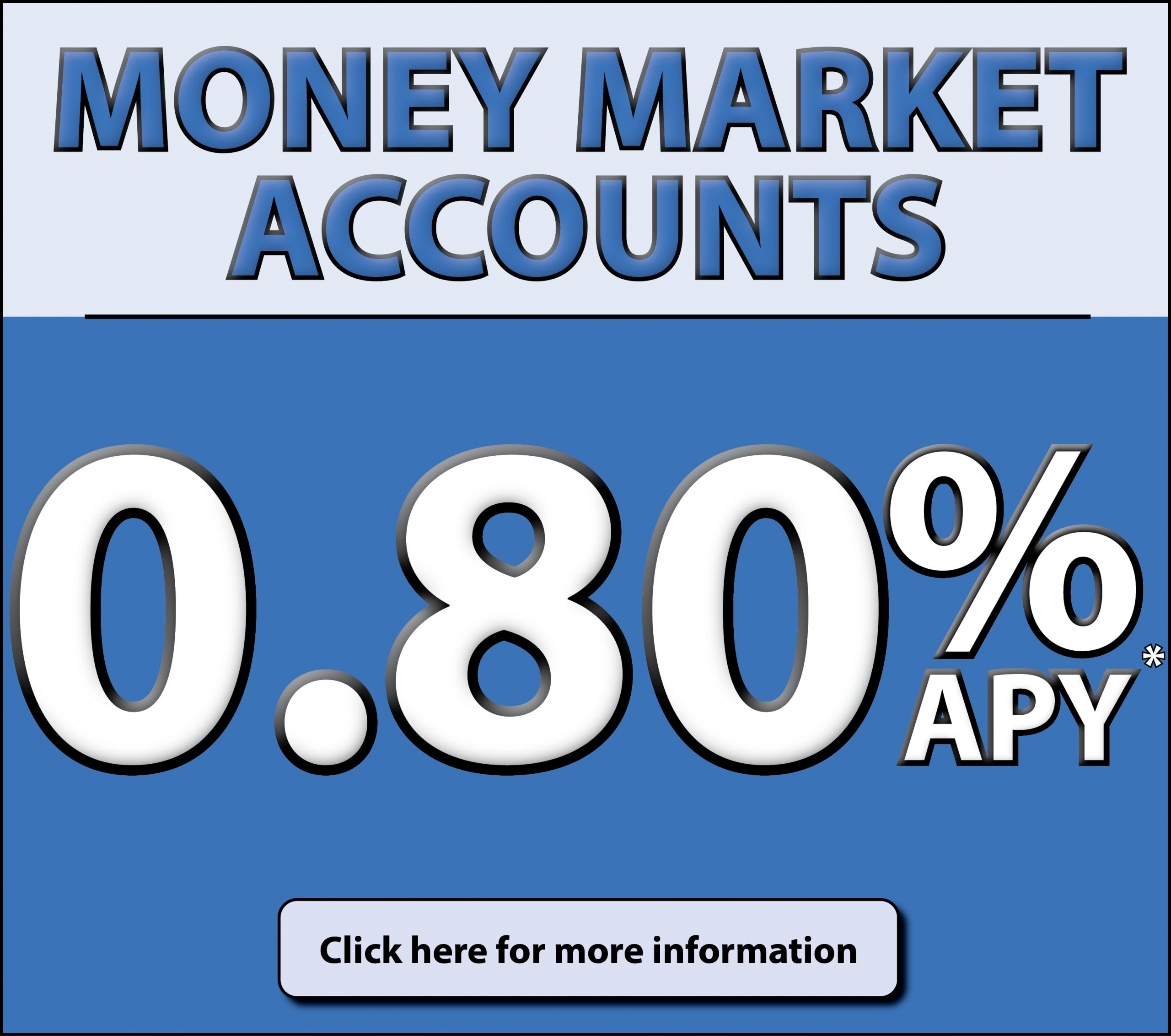 Quaint Oak Bank Consumer Money Market Accounts, 0.80% APY*