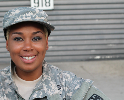 Image - woman in military uniform