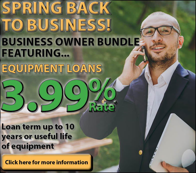 Spring Back to Business Ad, Man on Phone with Laptop