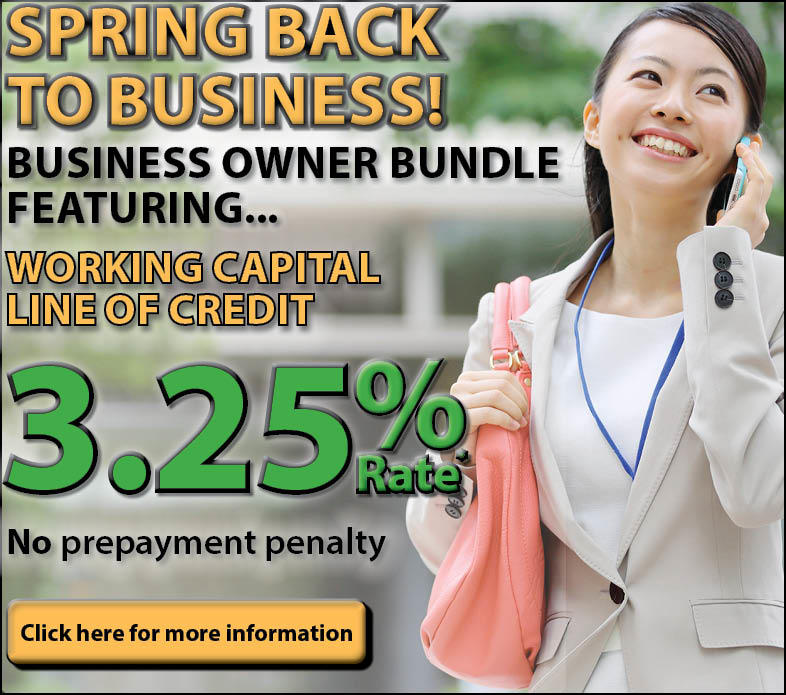 Spring Back to Business Ad, Woman on Phone